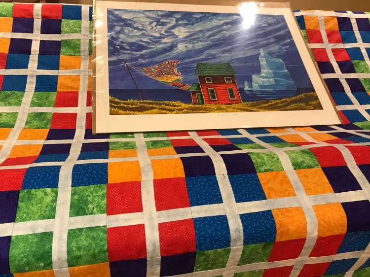 a quilt with young quilt pattern by Stich and a Round